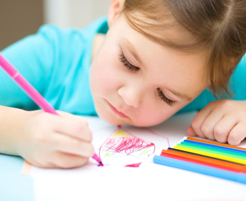 little-girl-doing-art